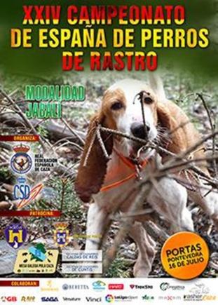 El Campeonato de España de Perros de Rastro se disputará en Portas